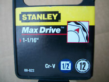 NEW STANLEY 1/2 in Drive  1-1/16  Inch  MAX DRIVE 12 POINT SOCKET