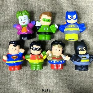 Fisher Price Little People DC Super Friends Figures Joker Batman Robin Superman