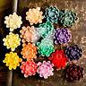 4/16pcs Resin Flatback Cabochon Cameo Flower Embellishment 22.5x20.5x9mm MGRB613