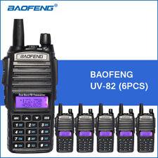 6PCS Baofeng UV-82 Dual Band Two-Way Radio 136-174MHz VHF & 400-520MHz UHF Black