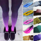 Women Fading Gradient Stretch Tights Ombre Colored Watercolor Velvet Stocking .