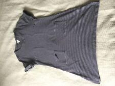 Lovely East navy blue white Breton stripe tunic dress size 14! 100% cotton