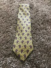 Christian Dior Men's Classic (Tied)Yellow Paisley Tie, 100% Silk 57x3 ""