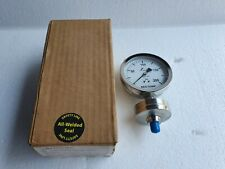 """REOTEMP All-Welded Process Diaphragm Seal Pressure Gauge 3.5"""",Stainless,200 PSI"""