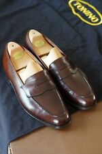 Beautiful Crockett & Jones / Hackett Size 8E Penny Loafers - Dark Brown