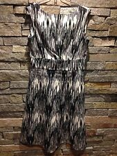 Calvin Klein - Summer Dress - Mod Graphic Print - Black Gray White - Cotton - 10