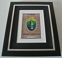 Peter Lorimer SIGNED 10x8 FRAMED Photo Autograph Display Leeds Utd 1972 FA Cup