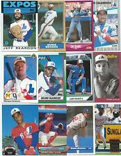 Lot of 600 Montreal Expos Cards; 1986-1999; NM-Mint