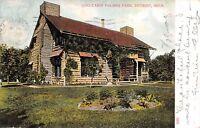 Detroit Michigan 1908 Postcard Log Cabin Palmer Park