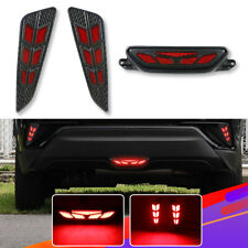 3Pcs LED Rear Bumper Reflector Light Car Fog Driving Brake for Toyota C-HR CHR
