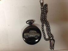 Reloj de bolsillo Austin A35 2 puerta ref7 Coche Efecto de estaño en un estuche negro pulido