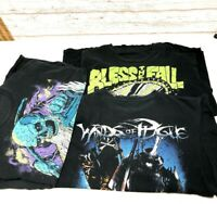 Heavy Metal Rock Band Retro Destroyed Shirt Lot Of (3) Mens Large Osiris 3-2