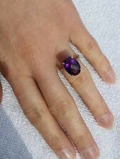 Zambian Amethyst 10ct gold ring, not 9ct gold