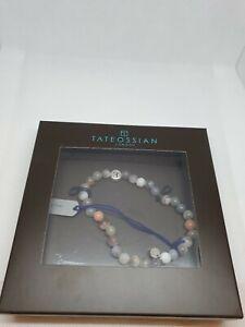 Tateossian Bracelet Tate Silver Botswa Letter E Medium 17,5 cm  Brand New in Box
