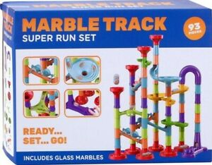 MARBLE TRACK IN BOX 93 PIECES CONSTRUCTION TOYS SUPER MEGA MARBLE RUN RACER