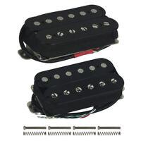 HH Strat Style Guitar Humbucker Pickups Alnico 5 Neck Bridge Pickup Set Black