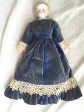Antique/Vintage Parian/Bisque Girl Doll, Fabric Body - 12 Inches