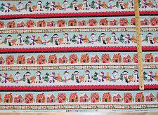 Happy Holidays Snowmen Sampler Benartex Christmas Fabric by the 1/2 Yd #4573