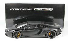 Lamborghini Aventador matt schwarz black 1:18 OVP Autoart