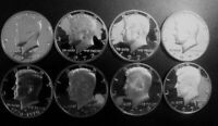 1971 ~ 1979 PROOF Kennedy Half Dollars 8 Coins from US Proof Sets