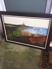 Beautiful Vintage Original Hawaiian Painting BIG ISLAND LAVA Signed Benson