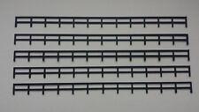 Lot 5 rambardes clôture 1/87 HO  décor train diorama compatible Jouef Faller