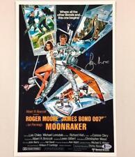 ROGER MOORE Signed JAMES BOND Moonraker 11x17 Movie Poster Photo BAS Beckett COA