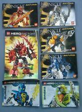Lot de 7 notices LEGO Bionicle Hero Factory 7116 7135 7137 7138 7165 7169 7147