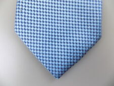 "MICHAEL KORS $75 MEN Blue Geometric Skinny WIDTH 3"" CASUAL NECK TIE SILK A13"