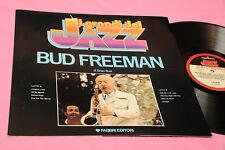 BUD FREEMAN LP ITALY 1980 JAZZ MINT MAI SUONATO FOC + LIBRETTO BIO DISCOGRAFICO