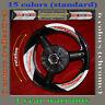 Wheels Sticker / Decal SUZUKI Hayabusa 99-07 kit 001 White + Red Reflective