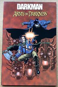 DARKMAN VS. ARMY OF DARKNESS TPB (2006) Dynamite; Busiek, Stern, Fry; 1st Print