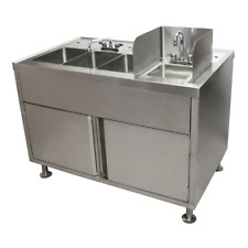 48x29x42 Stainless All-in-One Food Truck Wash Station