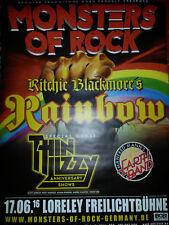Monsters Of Rock Rainbow Ritchiblackmore RARE Konzert Plakat Concert Poster 84cm