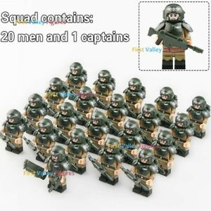 21pcs United Army Union Soldier Military Figure + Weapon for Lego Minifigure