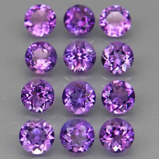 Round 5 mm.Real 100%Natural Amethyst Bolivia None Treatment 12Pcs/5.62Ct.