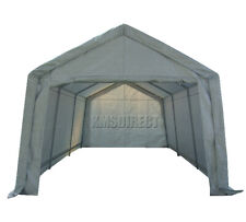 BIRCHTREE Garage Carport Shelter Car Port Canopy 3m x 6m Galvanised Frame White