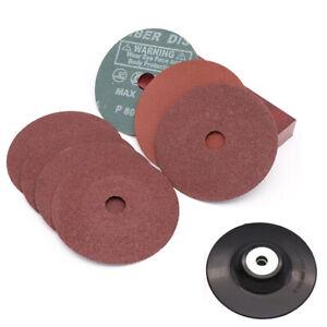 Fibre Sanding Discs 100mm 125mm Abrasive Backing Pads 24-120 Grit Angle Grinder