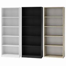 Bücherregal Regal Holzregal Standregal Wandregal Büroregal 180x60x30cm weiss