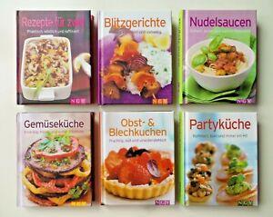 Kochbuch-Set NGV Mini • italienisch, Blitzgerichte, Partyküche, Blechkuchen, ...