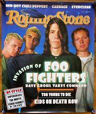 Foo Fighters Rolling Stone cover shot Rare original promo poster