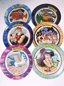 Disney 1997 HERCULES Plastic Melamine Plates McDonald's Set Of 6 Zeus, Pegasus