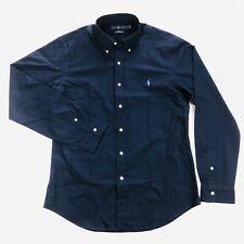 Ralph Lauren Mens Large Slim Fit 100% Cotton Stretch Blue Long Sleeve Shirt