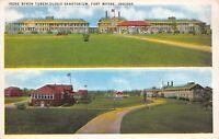 Fort Wayne Indiana~Irene Byron Tuberculosis Sanatorium Campus~Split View~1934 PC