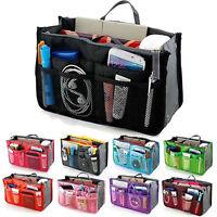 Multi Pocket Bag in Bag Makeup Travel Insert Handbag Tote Organizer Purse Pouch