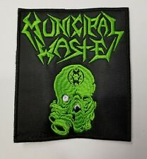 MUNICIPAL WASTE GREEN LOGO EMBROIDERED  PATCH
