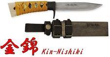 "Kanetsune Kin-Nishiki 4.72"" Blue Steel Damascus 15 Layers Magnolia Sheath KB-259"