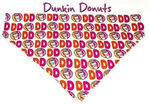 Dunkin Donuts Dog Bandana, Over the Collar dog bandana, Dog collar
