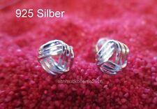 """925 Silber """"Strom""""- Ohrstecker Ohrringe, Silber Geschenk, Klein, fein, Glänzend"""