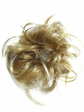 Large Synthetic Quality Hair Scrunchie for Bun or Ponytail Blonde Mix BR